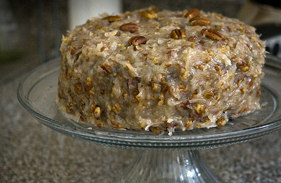 AWARD WINNING GERMAN CHOCOLATE CAKE