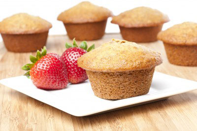 """LITE"" APPLE OAT BRAN MUFFINS"